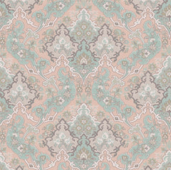 Dusty Pink/Pale Teal & Light Grey