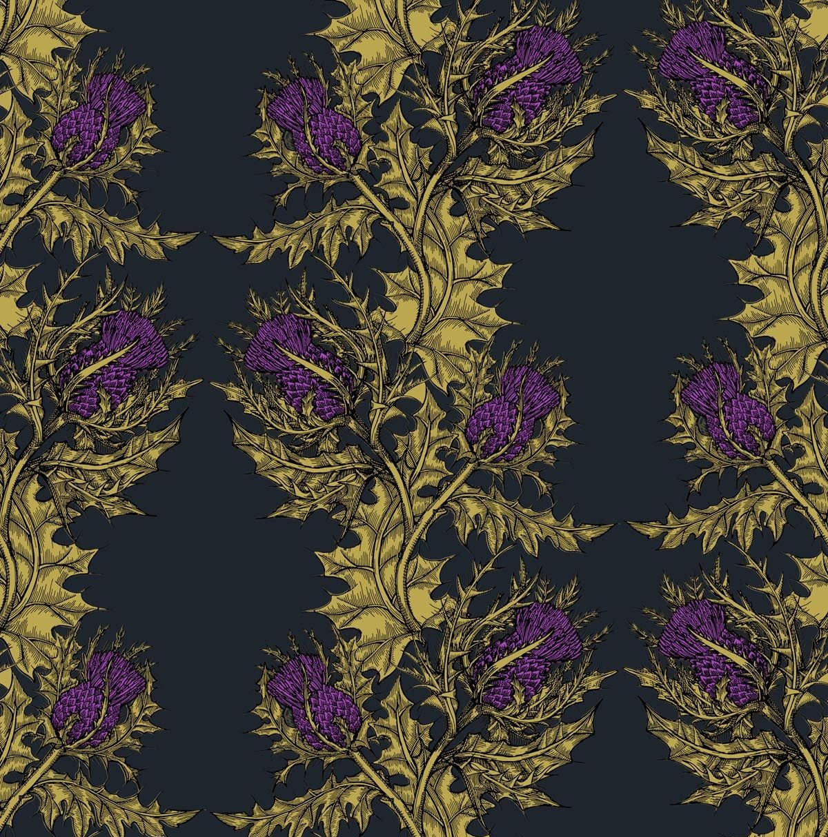 Gold & Purple on Black