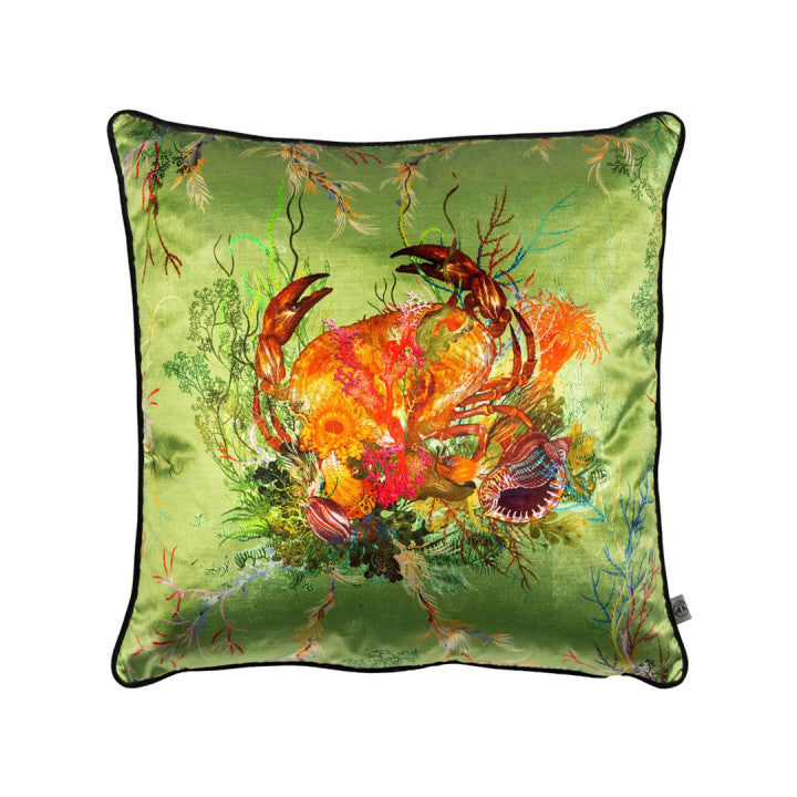 Crab Velvet Pillow