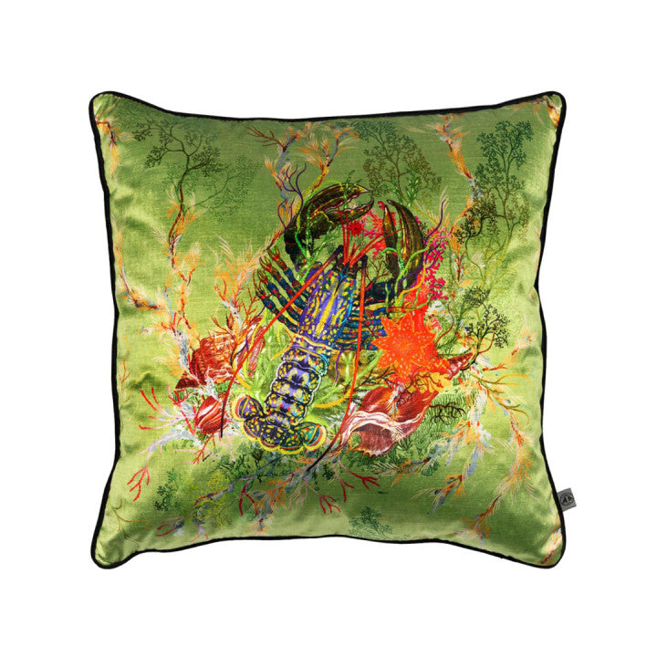 Lobster Velvet Pillow
