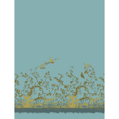 Pale Gold on Sea Blue