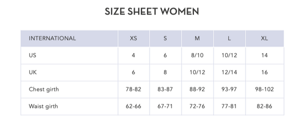 ARMEDANGELS_Size chart- TOPS
