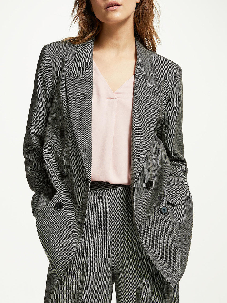 Checky Blazer in Grey