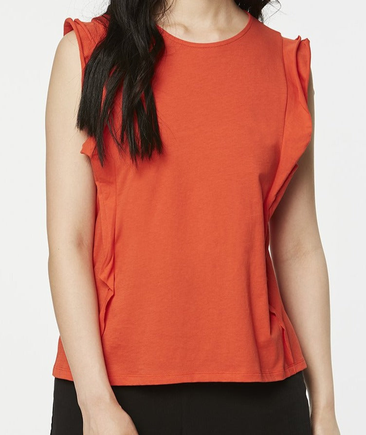 Rosa Blouse in Glossy Orange