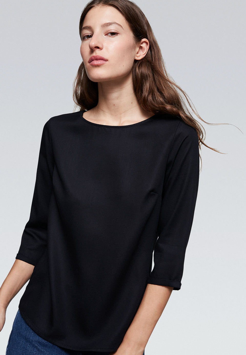 Heddaa Bow Blouse in Black