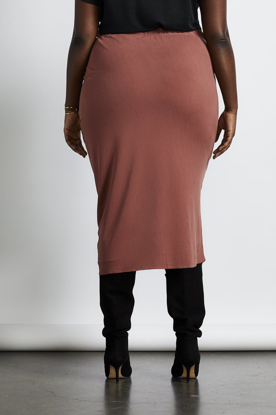 Seville Cinched Skirt in Charcoal