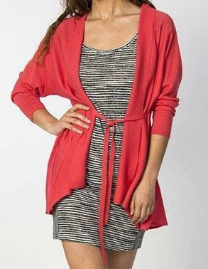 Maryse Cardigan in Coral