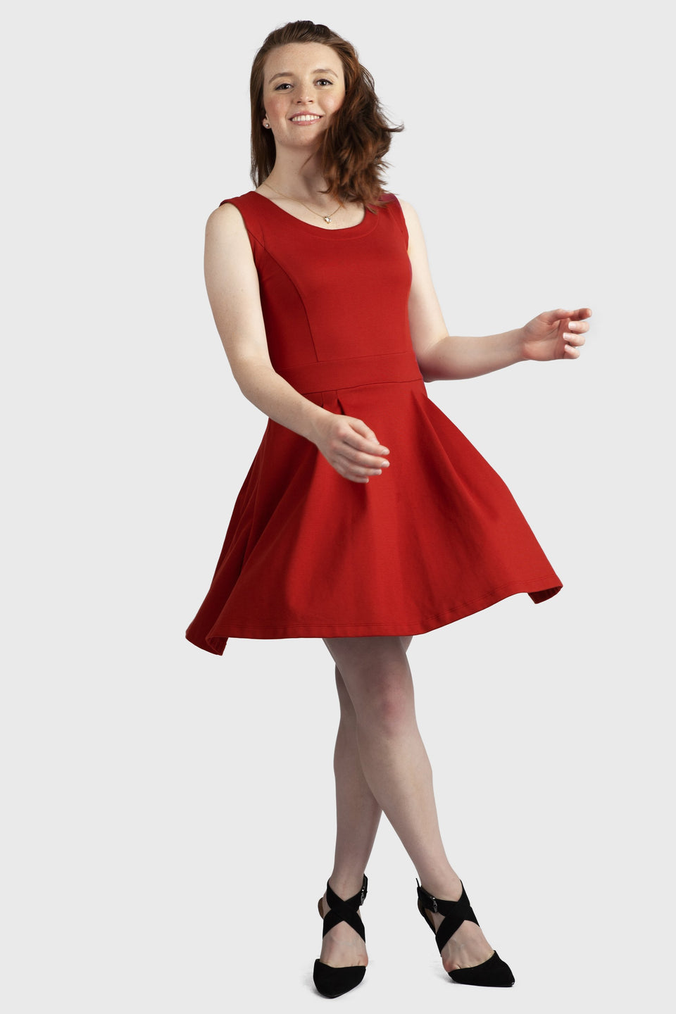 Alicia Dress in Crimson