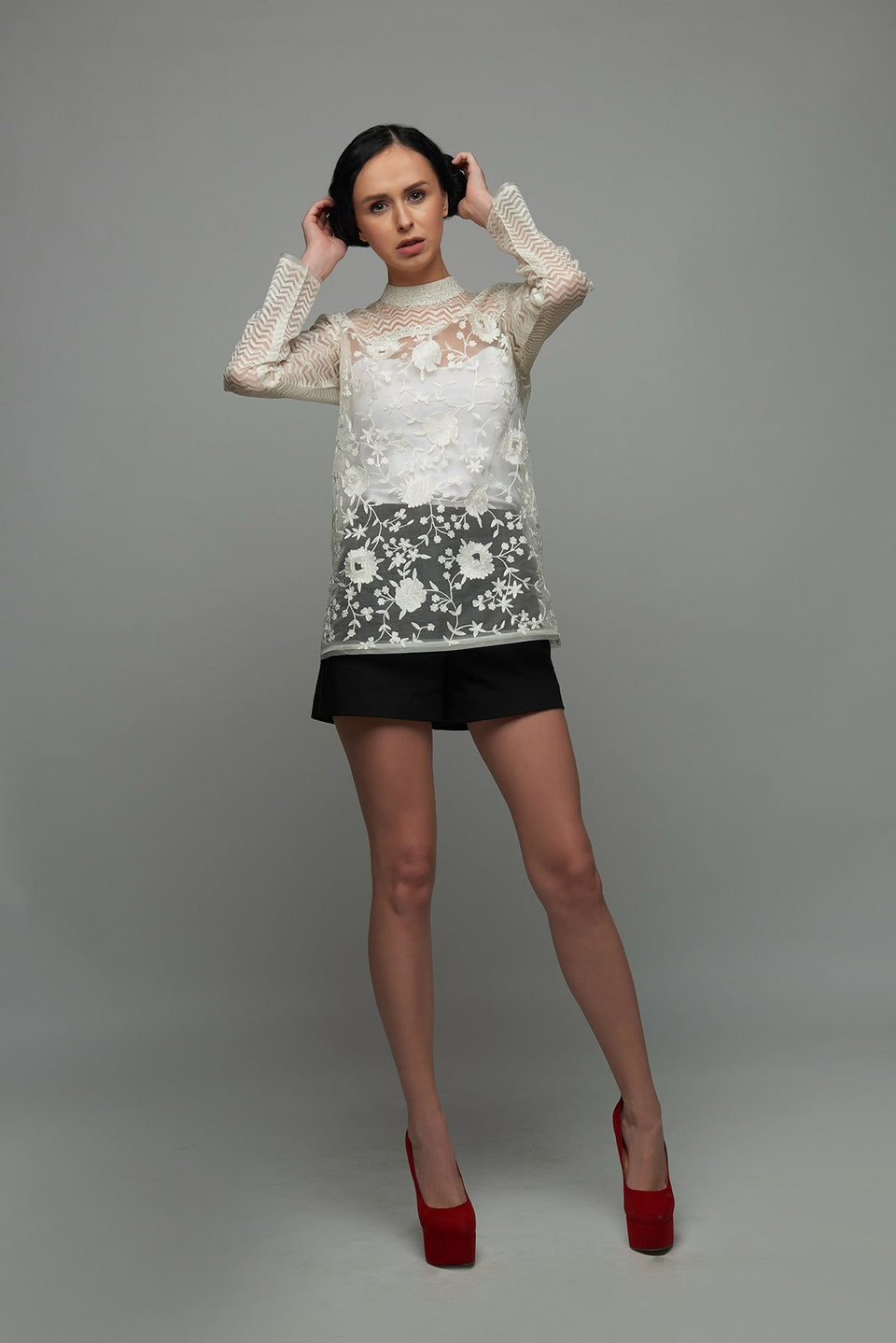 The Eden Blouse in Ivory