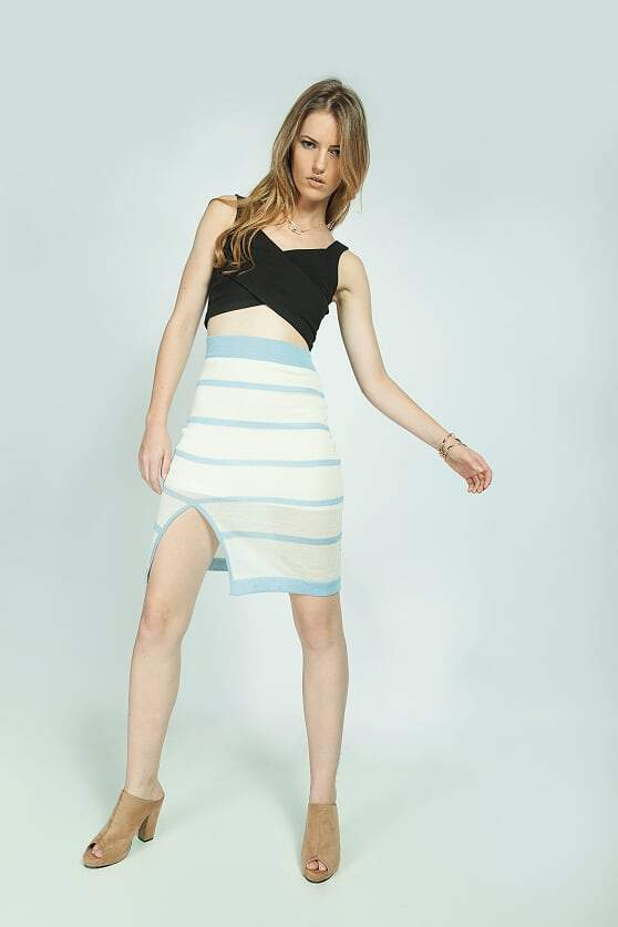 Hannah Skirt in Blue and White