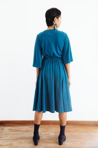 Nataly Wrap Dress in Teal