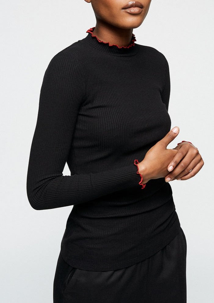 Aalanis Longsleeve Top in Black