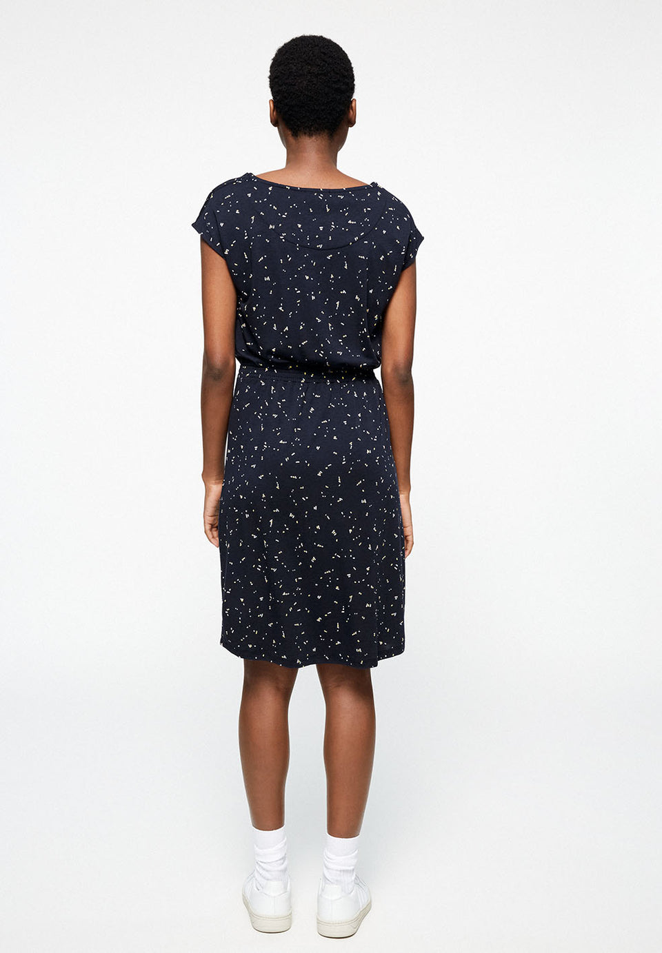 Sonjaa Firefly Dress in Navy