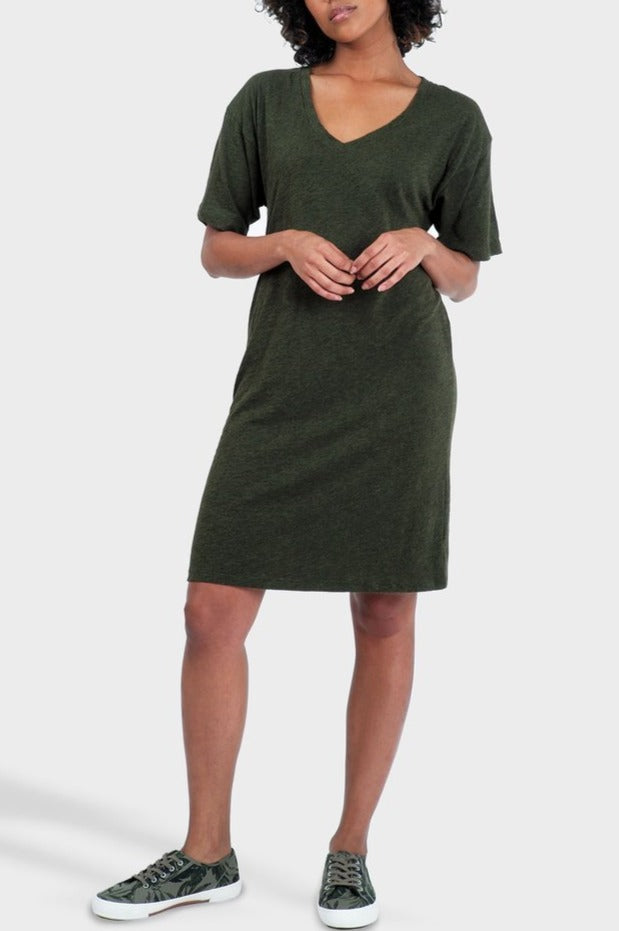 Mika T-shirt Dress in Heather Forest
