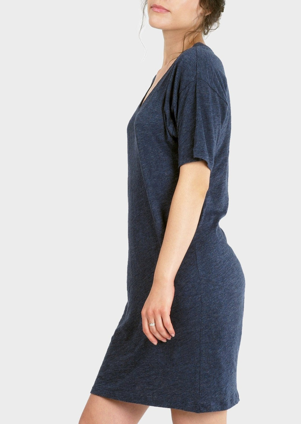 Mika T-shirt Dress in Heather Lake