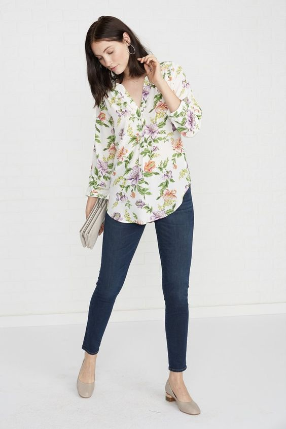 Amy Silk Blouse in Marais Floral