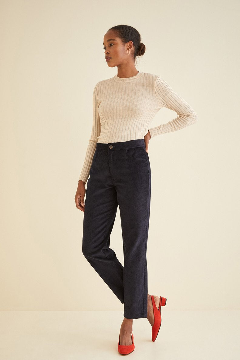 Sawyer Corduroy Pant in Navy
