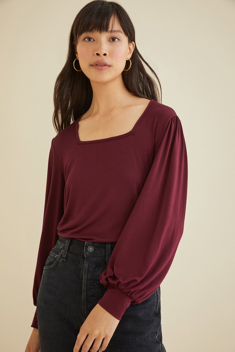 Idaly Top in Plum
