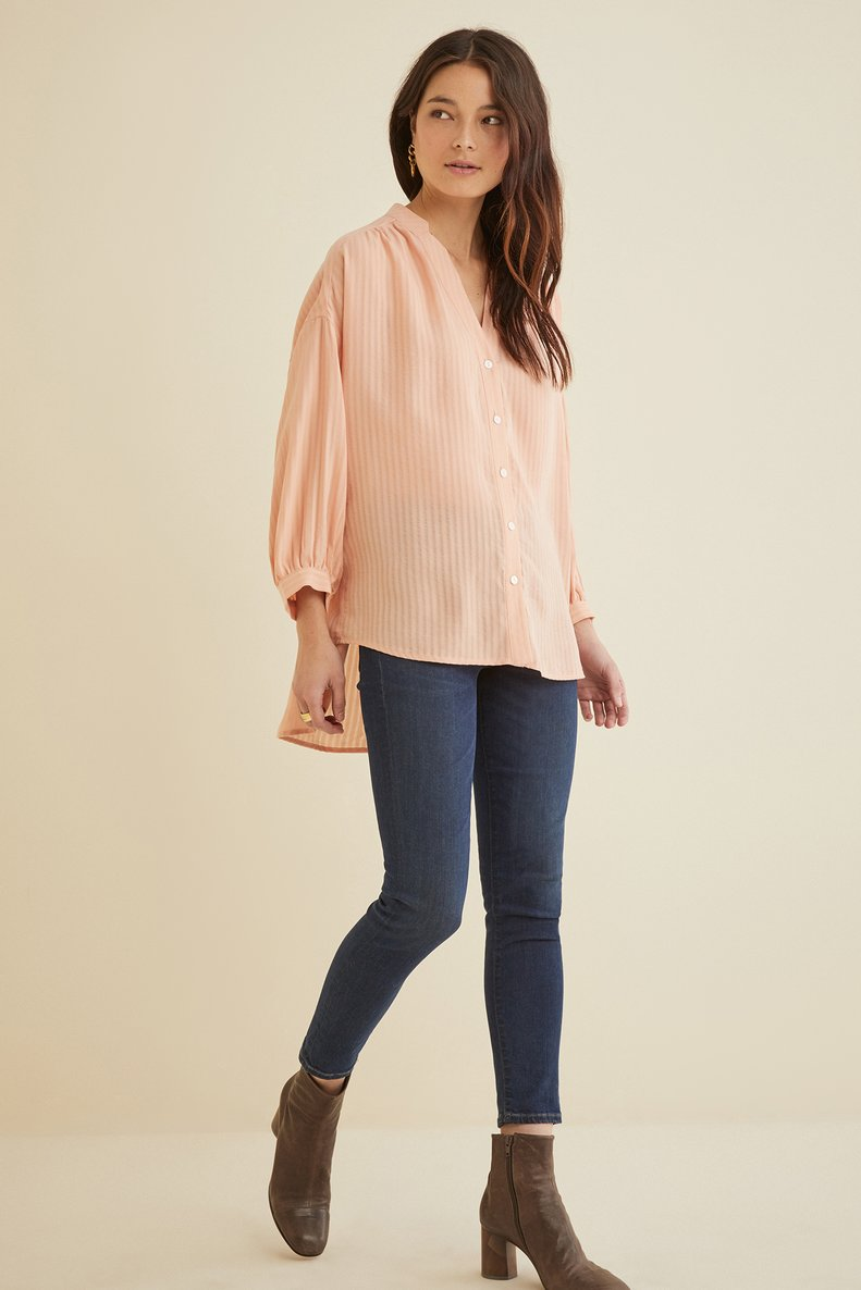 Raia Blouse in Blush Pink