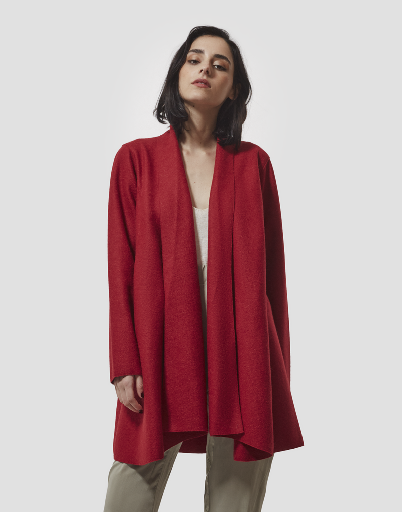 New Elegant Coat in Rojo