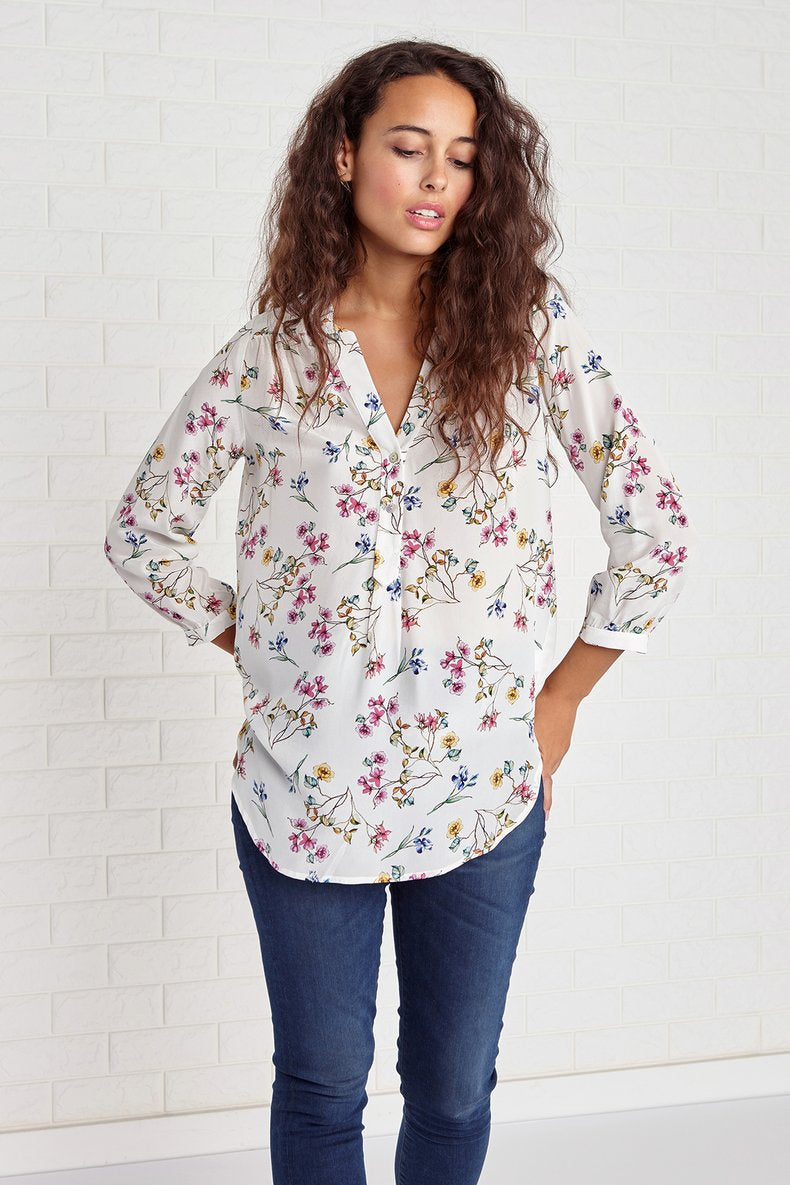 Amy Silk Blouse in Varennes Floral