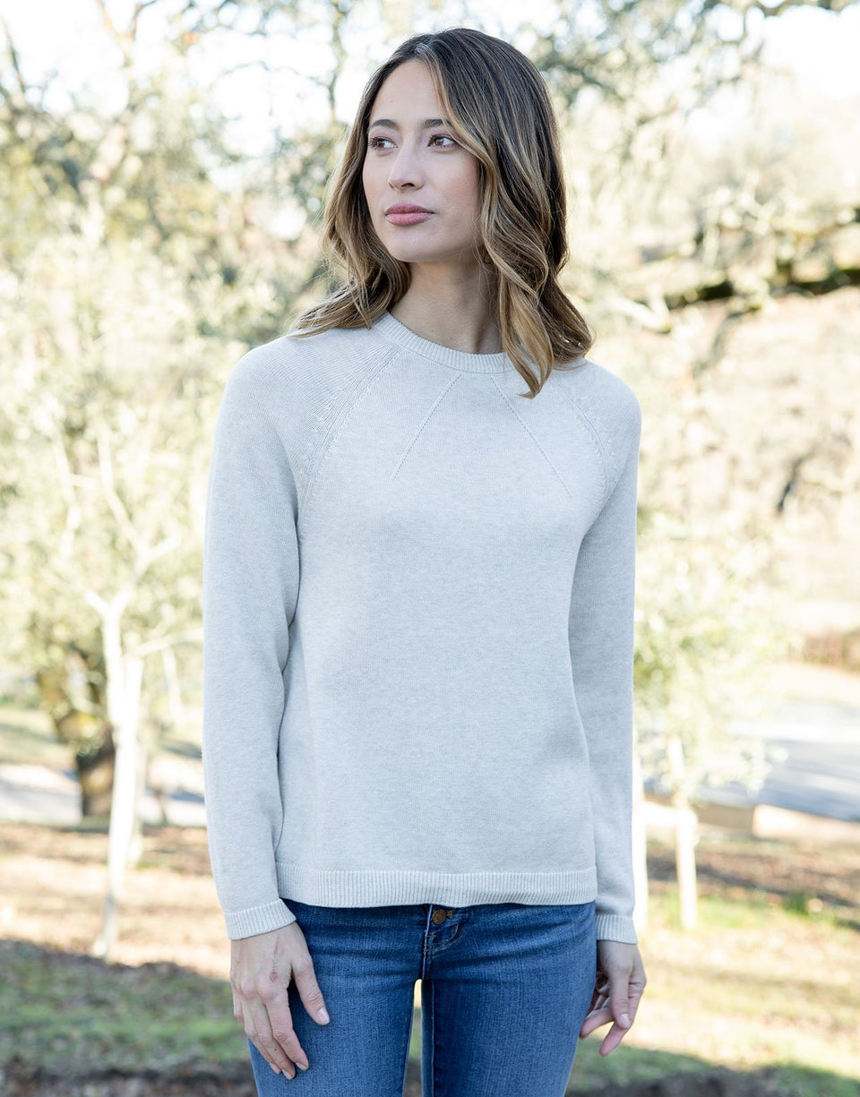Lightweight Relaxed Sweater in Beige