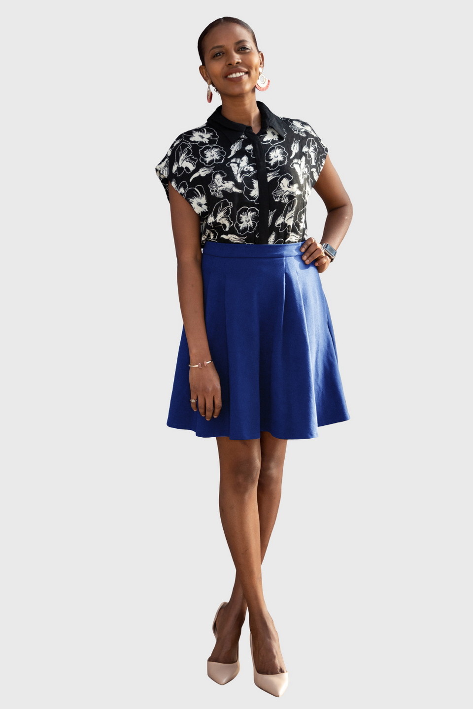 The Verena Skirt in Cherry Blossom