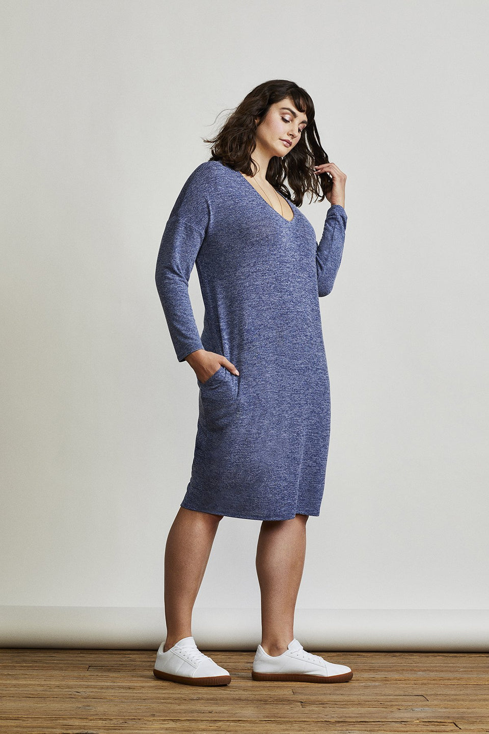 Willow Dress in Blue Marl