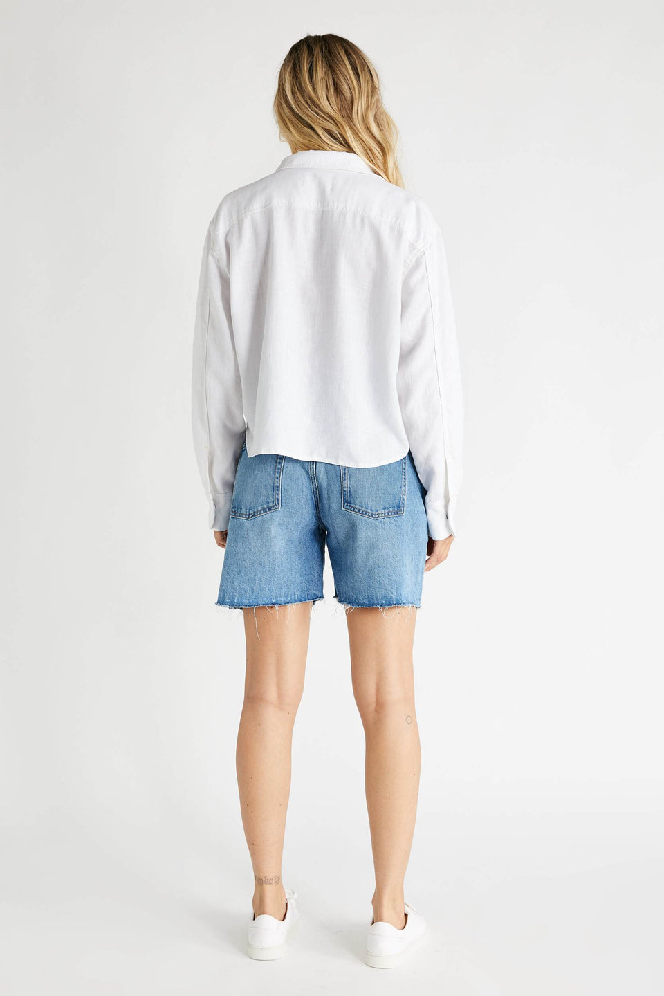 Diana Long Sleeve Top in Sustainable White