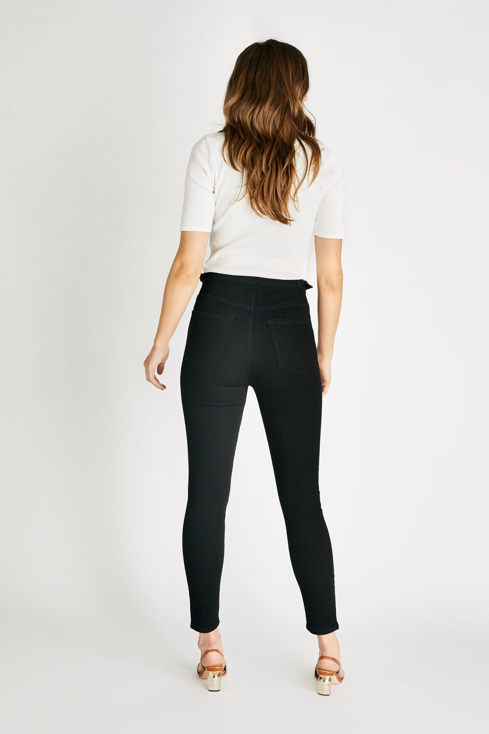 Cindy High Rise Skinny in Black