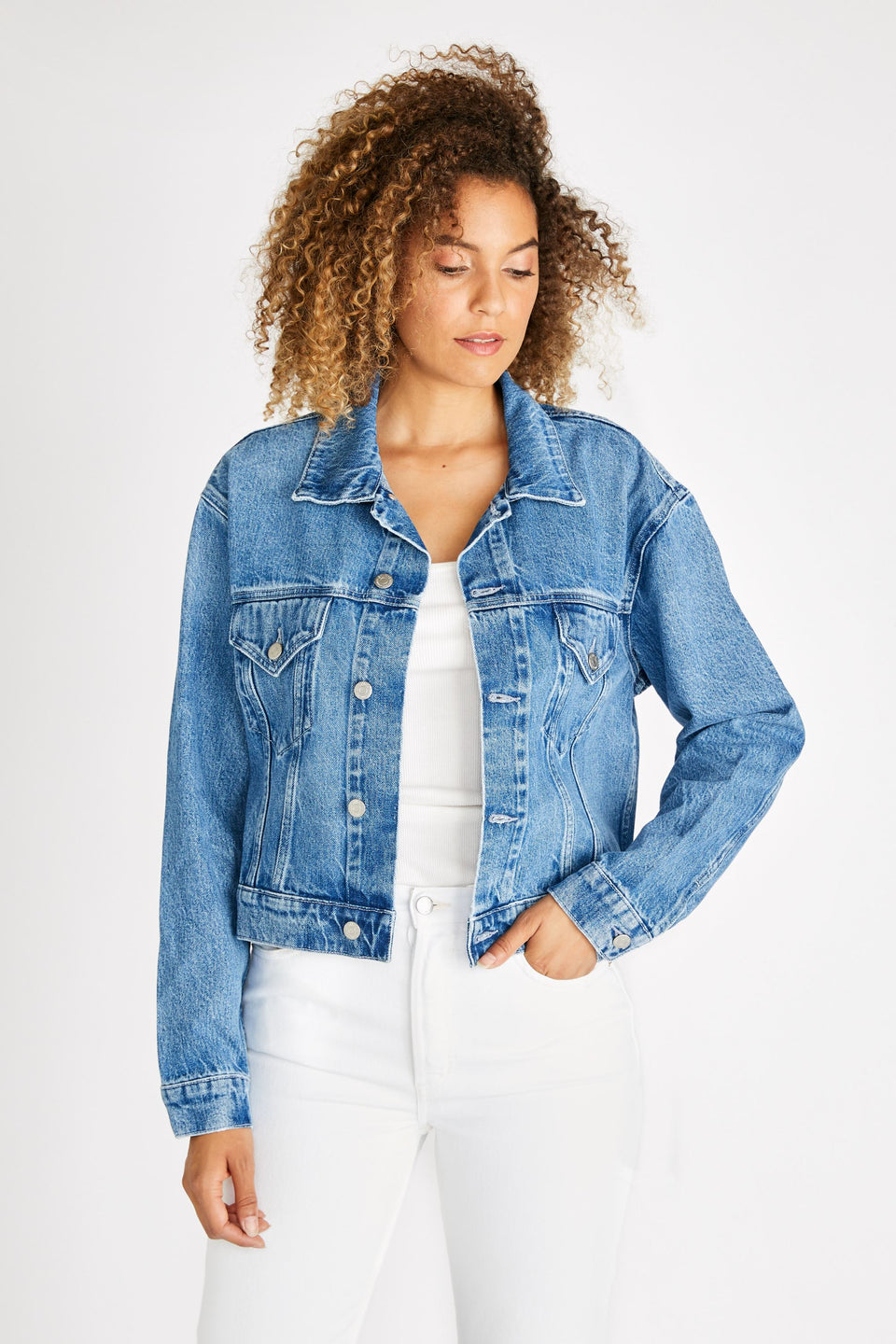 Chelsey Trucker Jacket in San Felipe