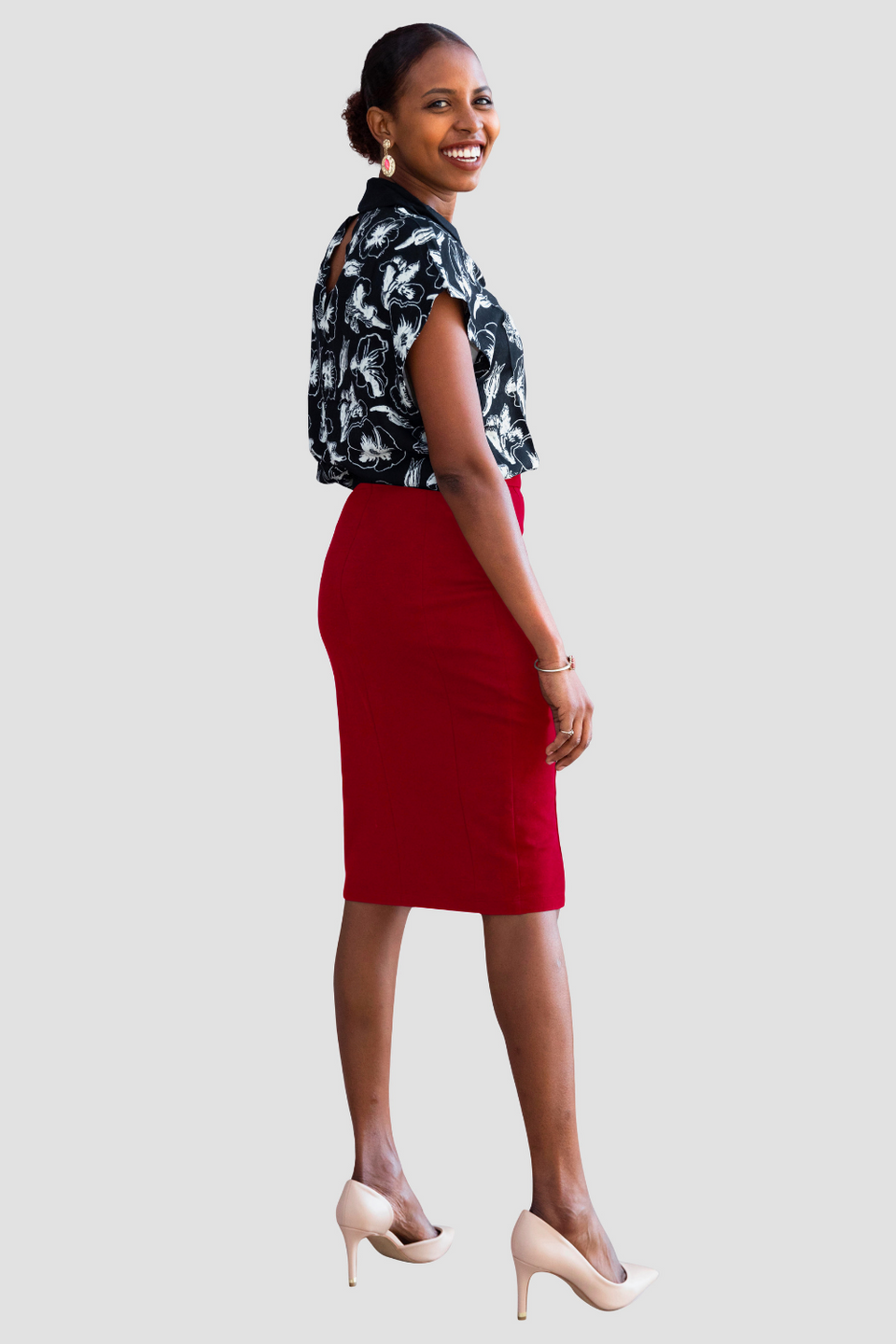 Erin Skirt in Crimson