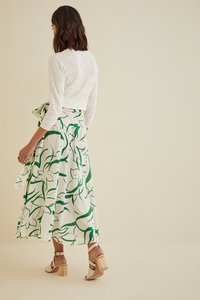 Flora Wrap Skirt in Agave Floral