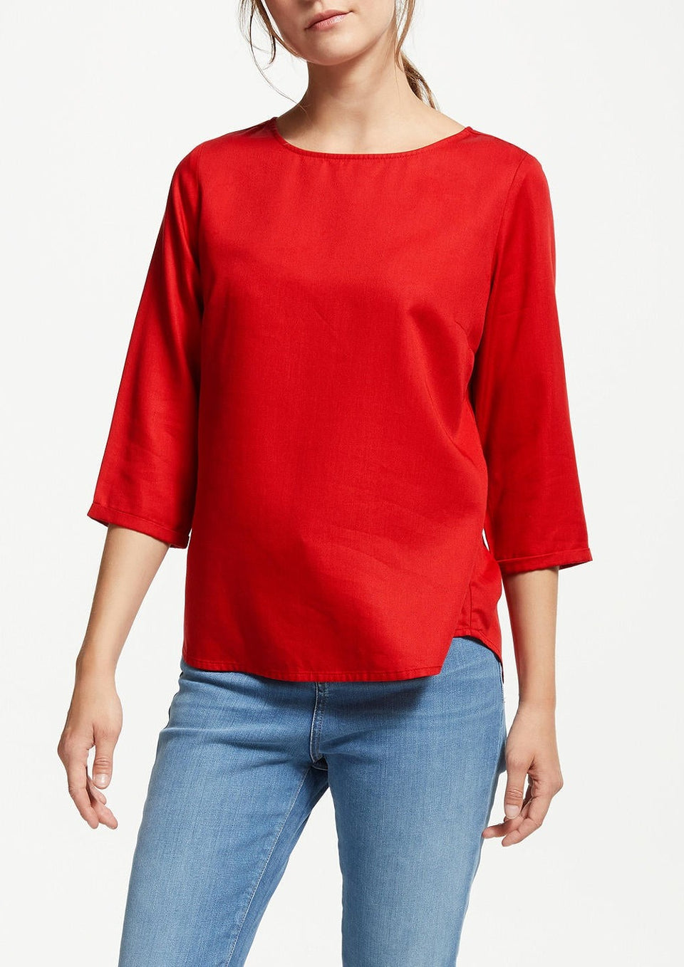 Heddaa Bow Blouse in Scarlet Red
