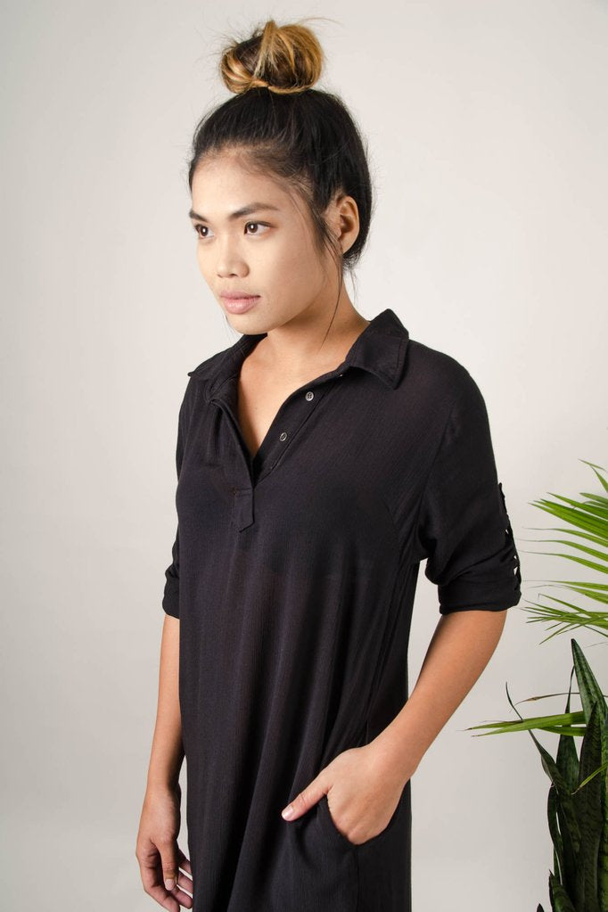 Rachana Tunic Dress / Top in Black