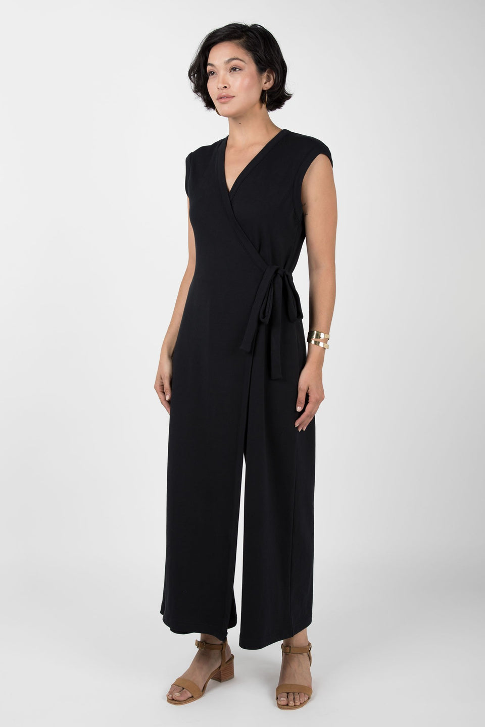 Wrap Jumpsuit in Summer Navy