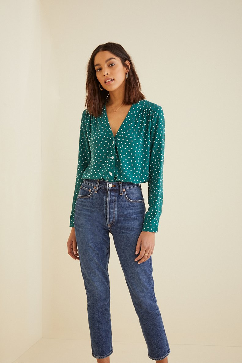 Kaya Silk Blouse in Brooklyn Dot
