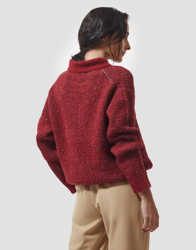 Mayana Sweater in Red Gray