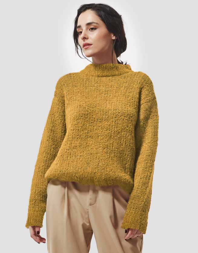 Mayana Sweater in Yellow Gray
