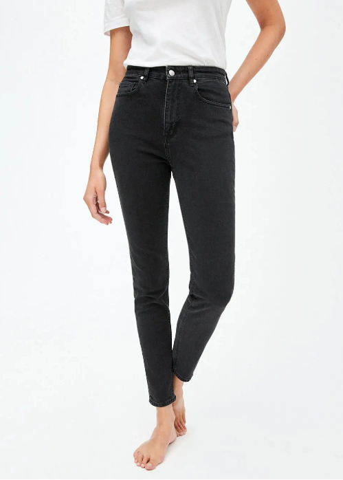 Ingaa Seamline High Waist in Color Washed Down Black