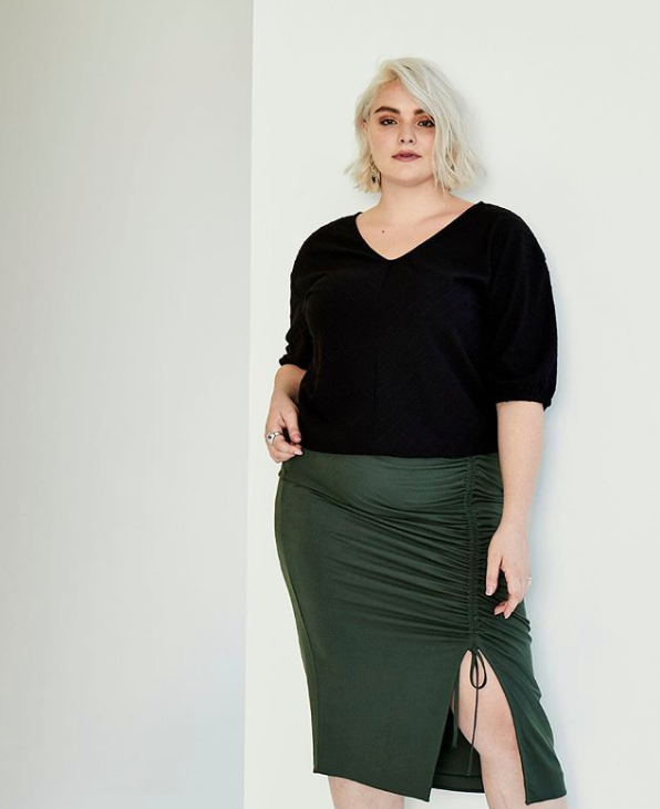 Seville Cinched Skirt in Army