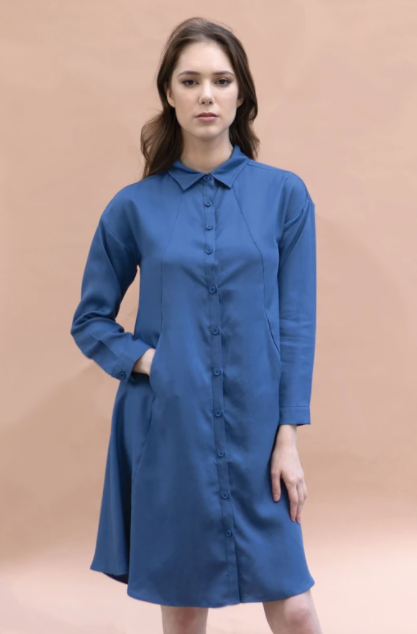Holt Dress in Slate Blue