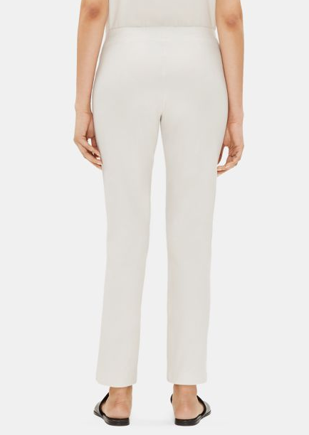 Crepe Slim Ankle Pant in Bone