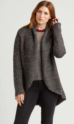 Alpaca Color Mix Cardigan in Basalt Grey Mix