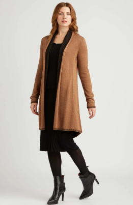Luxury Reversible Cardigan in Camel and Black