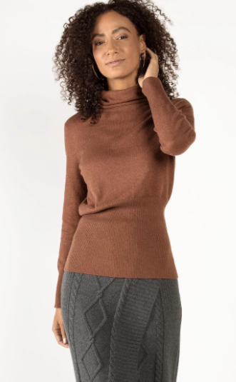 Knit Turtleneck in Cayenne