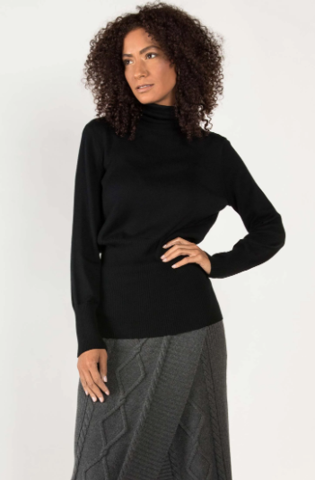 Knit Turtleneck in Black