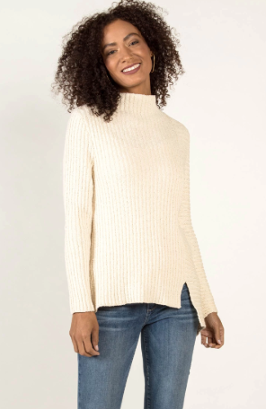 Boucle Rib Tunic in Ivory