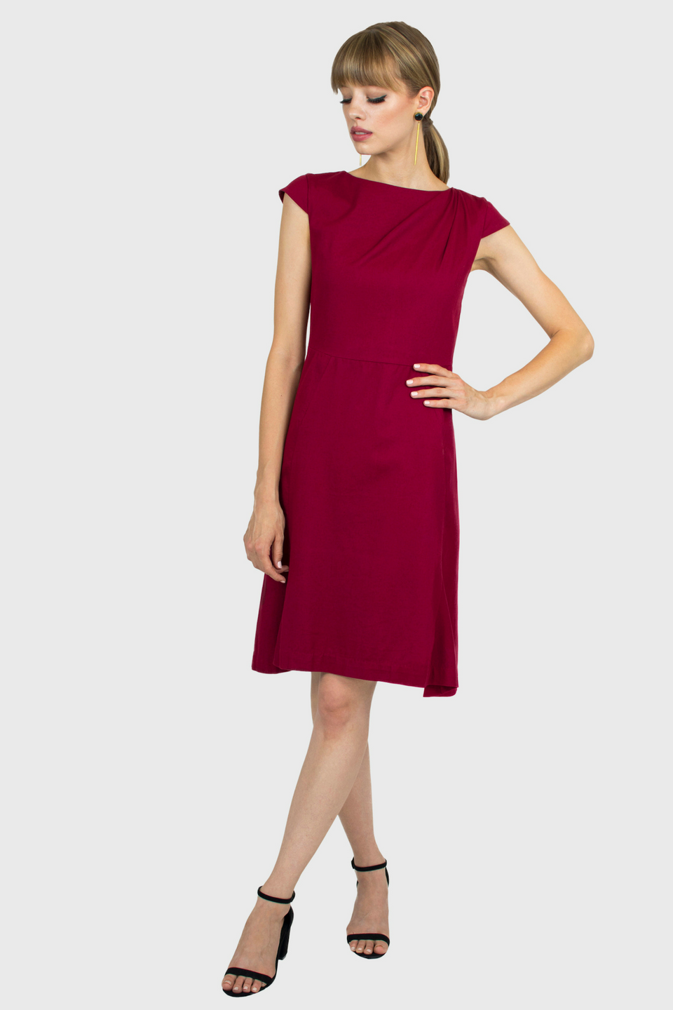 The Sarah Dress in Currant