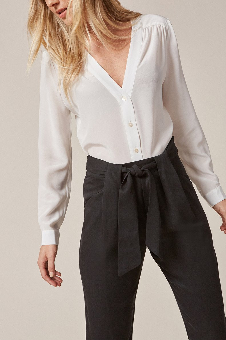 Anissa Tencel Twill Pant in Black